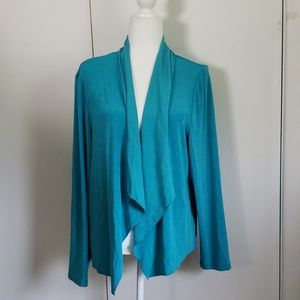 NWT Chico's Travelers Turquoise Cardigan